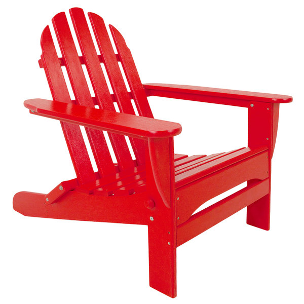 red adirondack chairs swivel chair limerick polywood ad5030sr sunset classic folding main picture