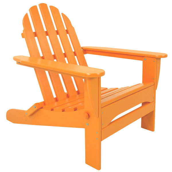 polywood classic adirondack chair used conference room chairs for sale ad5030ta tangerine folding main picture