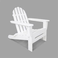 Polywood Classic Adirondack Chair Antique Cane Seat Dining Chairs Ad5030wh White Folding Main Picture