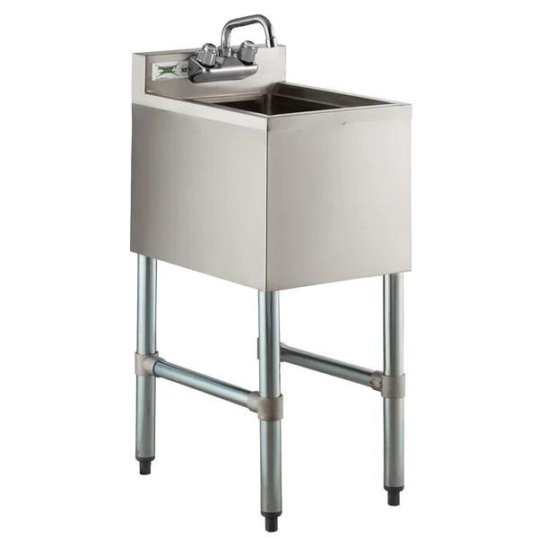 regency 1 bowl underbar hand sink with swivel faucet 14 1 2 x 18 3 4