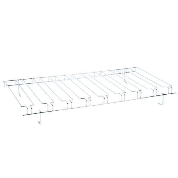 18 x 36 9 slot chrome wire bar glass rack