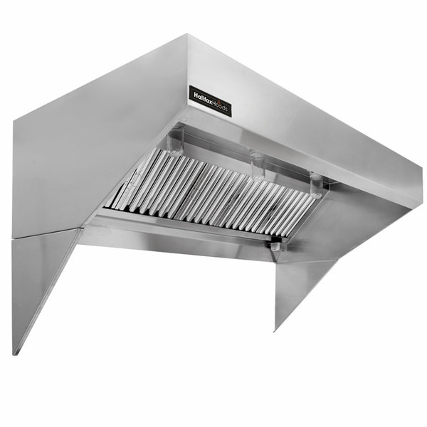 halifax lexhp648 type 1 6 x 48 low ceiling sloped front commercial kitchen hood system