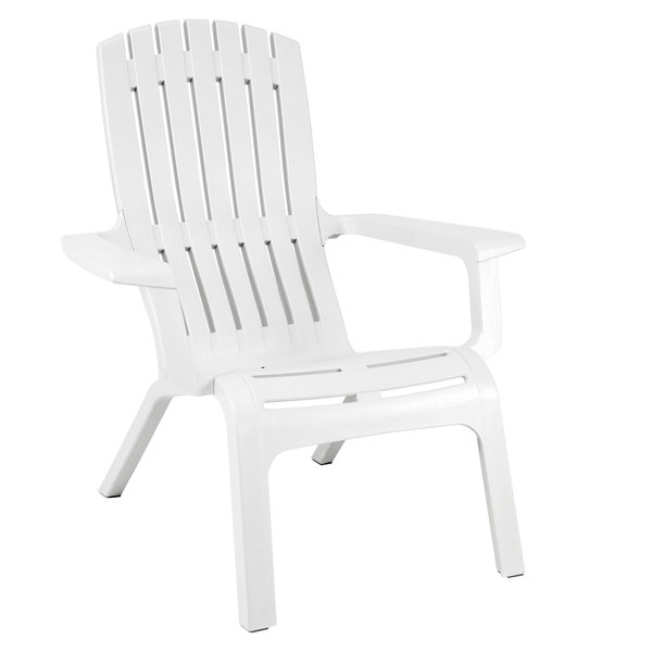 grosfillex us444004 westport white resin stackable outdoor adirondack chair