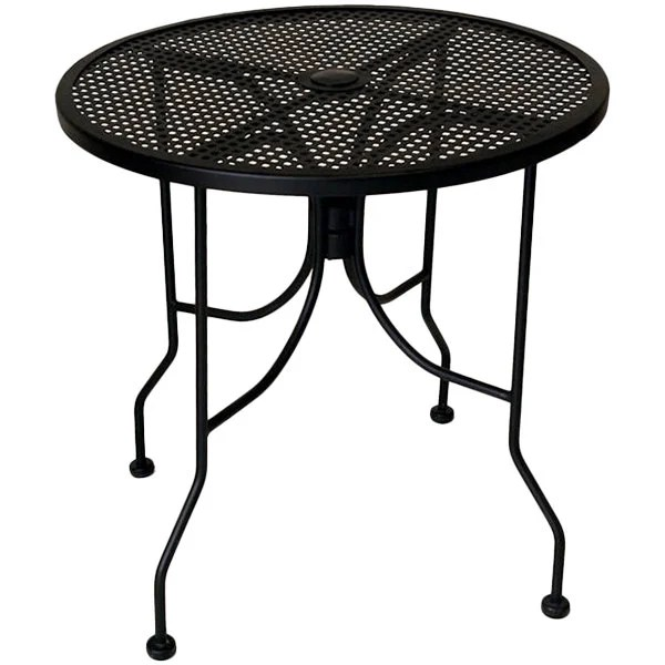 american tables seating alm30 30 round top outdoor table with umbrella hole