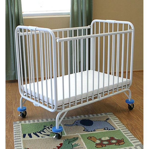 L A Baby 82 Folding Holiday Series Crib 24 X 38 With Fire Ant Mattress