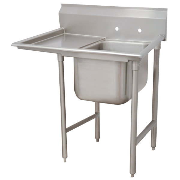 advance tabco 93 21 20 18 regaline one compartment stainless steel sink with one drainboard 44