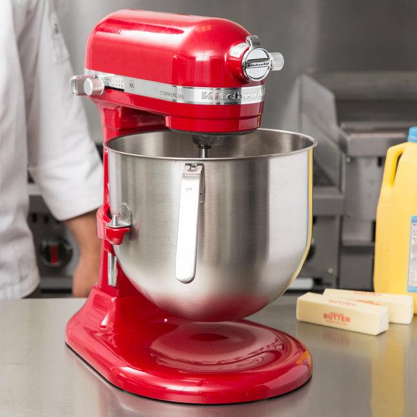 red kitchen aid mixer long narrow table kitchenaid 8 qt commercial ksm8990er webstaurantstore image preview