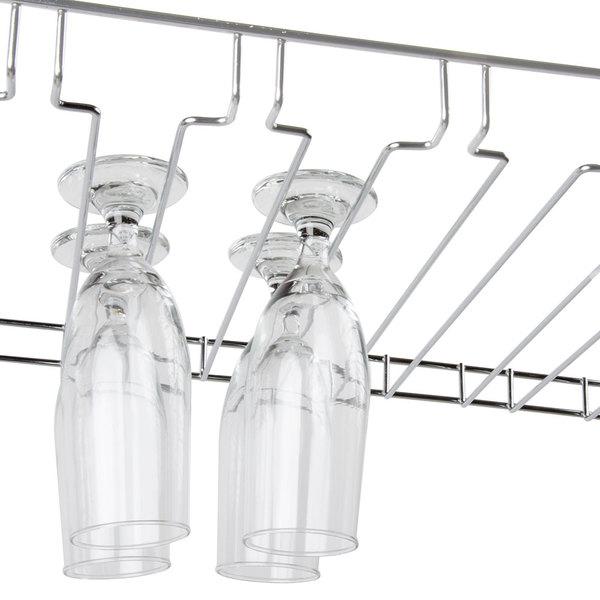 18 x 48 11 slot chrome wire bar glass rack