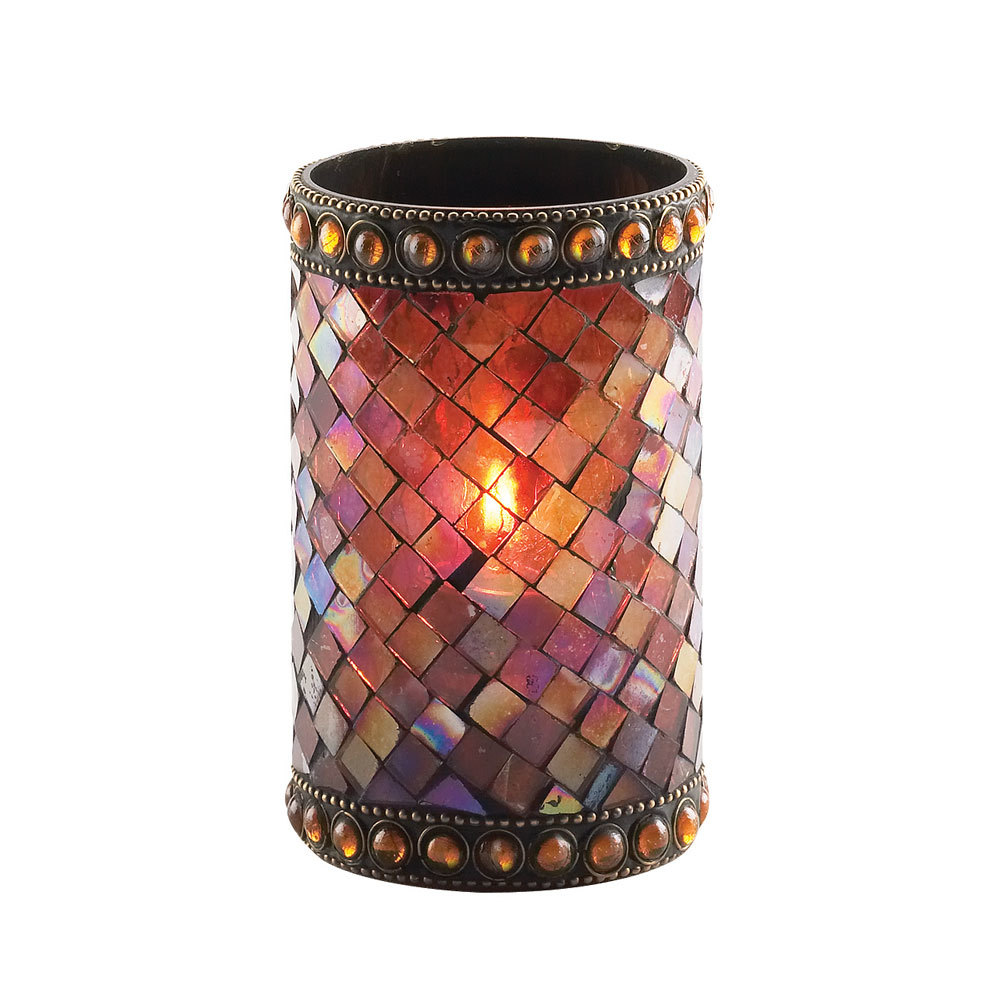 "Sterno Products 80108 4 3/4"" Amber Beaded Mosaic Liquid"