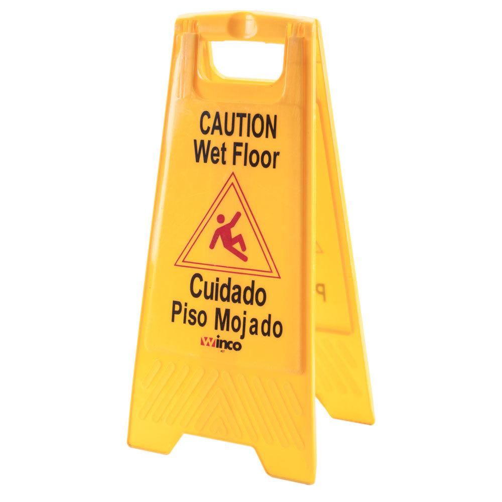 Wet Floor Sign  Yellow Wet Floor Signs