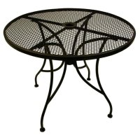"American Tables & Seating ALM30 30"" Round Mesh Top Outdoor"
