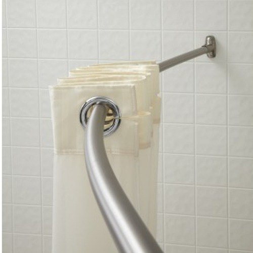 crescent suite b60bs6 5 stainless steel curved shower curtain rod with bright finish