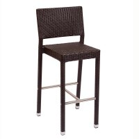 BFM Seating Monterey PH500BJV Outdoor Wicker Bar Height Chair