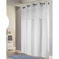 brown stripe escape shower curtain with