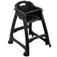 rubbermaid high chair philippines stakmore folding chairs fruitwood restaurant baby seats webstaurantstore lancaster table seating ready to assemble black stackable with tray