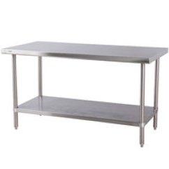 Kitchen Prep Table Trends In Flooring Stainless Steel Work Tables With Undershelves Regency 30 Inch X 72 16 Gauge 304 Commercial