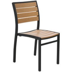 Stackable Restaurant Chairs French Country Kitchen Chair Cushions Aluminum Outdoor Dining Colors Bfm Seating Ph102ctkbl Largo Indoor Synthetic Teak Black Side