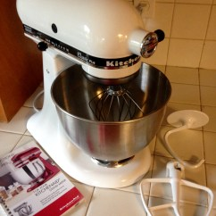 Mixer Kitchen Aid Faucet Review Kitchenaid Ksm75wh White 4 5 Qt Countertop User Submitted Photos Videos