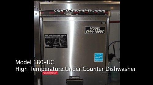 small resolution of cma 180uc undercounter dishwasher training part 1 video ice cube relay wiring dishwasher restaurant