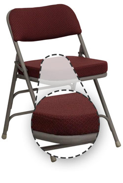 best folding chair jcpenney dining room chairs how to choose the types of fabric padding is soft and does a great job resisting temperature change these seats are designed for indoor applications
