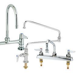 commercial kitchen faucet step stool chair restaurant faucets plumbing deck mount