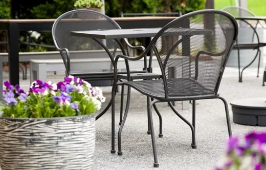 outdoor restaurant chairs oxo tot seedling high chair reviews furniture tables and bar stools booths more shop