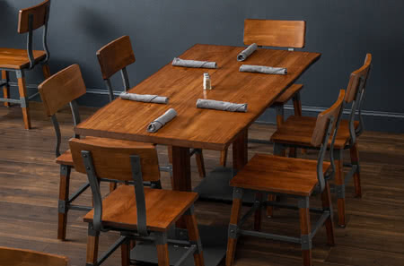 wooden restaurant chairs glider chair for nursery furniture tables and bar stools booths more lt s dining sets