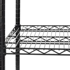 Metal Kitchen Rack Hanging Commercial Shelving Restaurant Racks Black Finish