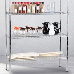 Metal Kitchen Rack Storage Island Commercial Shelving Restaurant Racks Regency Kits