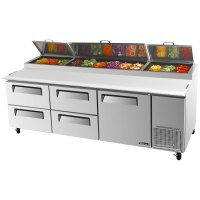 """Turbo Air TPR-93SD-D4 93"""" Pizza Prep Table with One Door ..."""