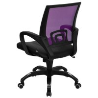 Mid-Back Computer / Office Chair with Purple Mesh Back and ...