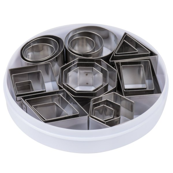 Ateco 4845 24-piece Stainless Steel Geometric Shapes