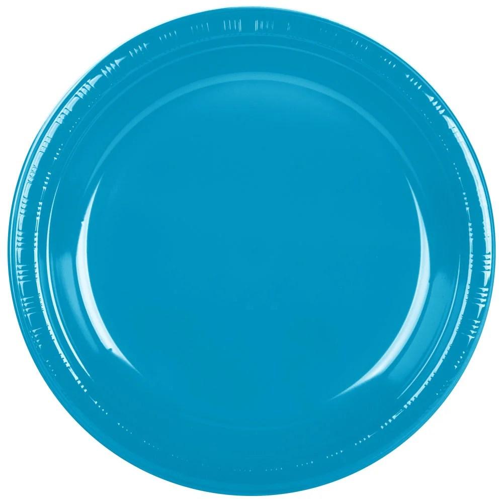"Creative Converting 28313131 10"" Turquoise Blue Plastic"