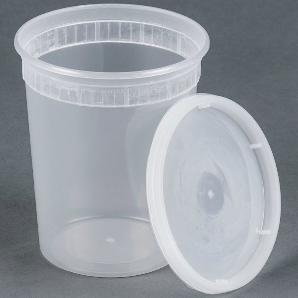 32 Oz. Microwavable Translucent Plastic Deli Container