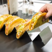 Stainless Steel Taco Holder with 4 or 5 Compartments - 4 ...