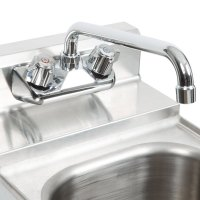 Low Lead Wall Mount Faucet Chrome Bar Sink, 4 inch Center ...