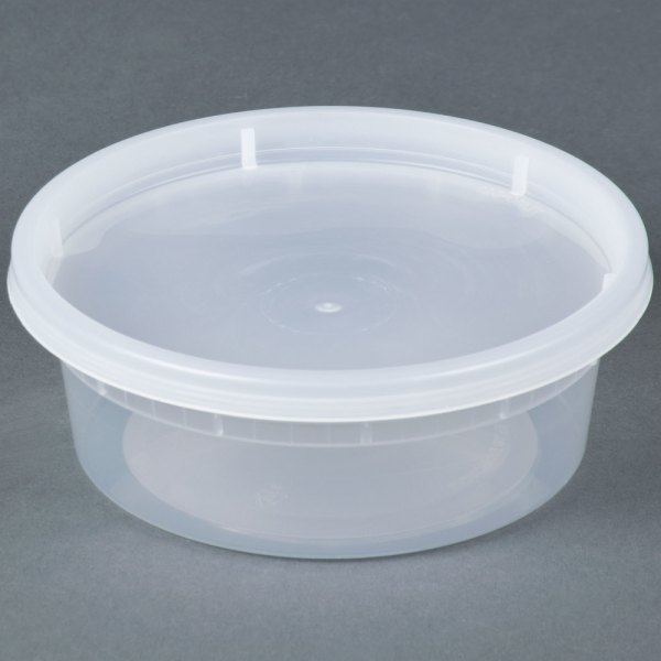 8 Oz. Microwavable Translucent Plastic Deli Container With