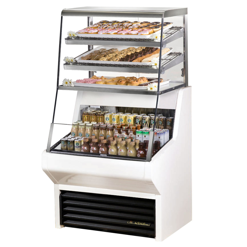 True THAC36DGLDWH 36 White Refrigerated Horizontal Air