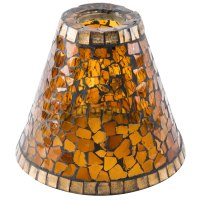 Sterno Products 85426 Amber Mosaic Lamp Shade