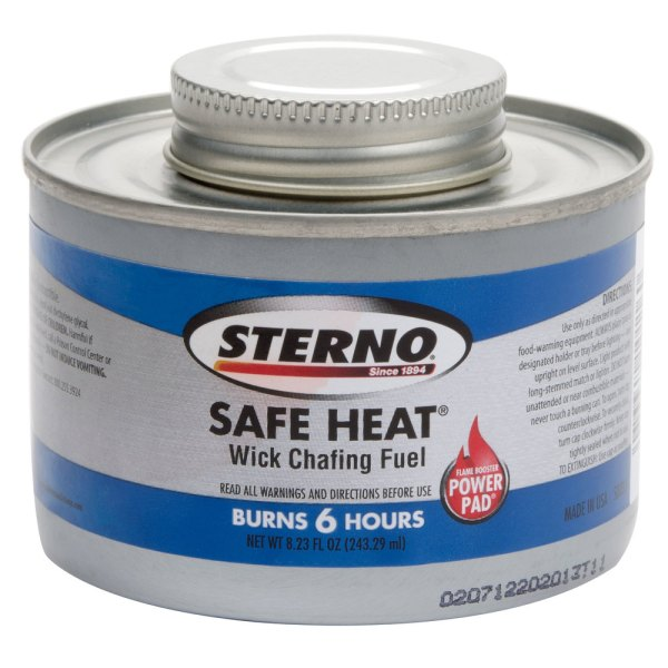 Sterno Products 10116 6 Hour Wick Chafing Dish Fuel Canister - 24 Case