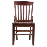 Lancaster Table & Seating Mahogany Finish Wooden School ...