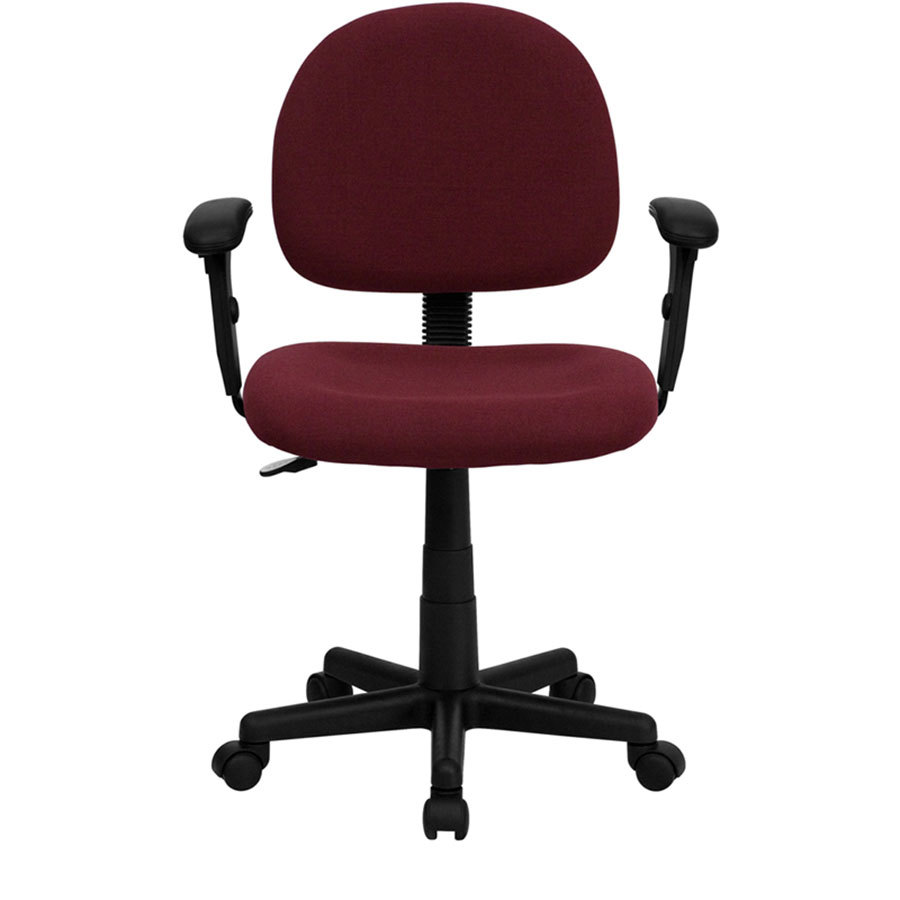 MidBack Burgundy Ergonomic Office Chair  Task Chair with