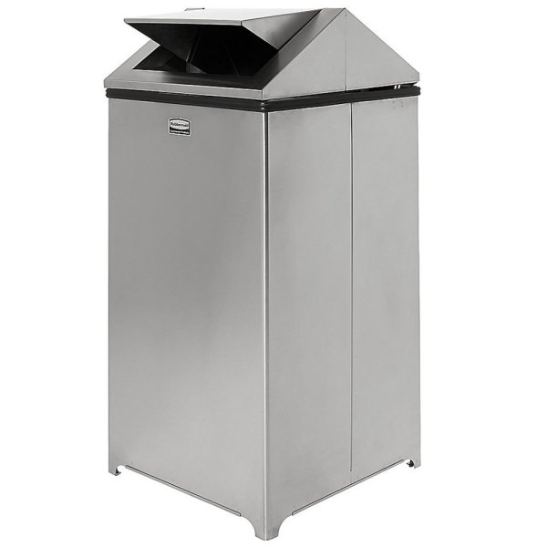 Rubbermaid Fgt1940ssrb Wastemaster Stainless Steel Swing Gallon Trash