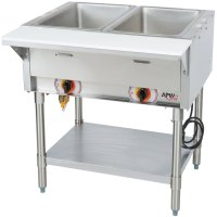 APW Wyott PSST2S Portable Steam Table - Two Pan - Sealed Well
