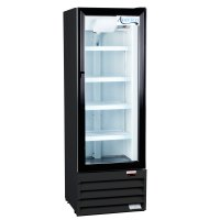 "Avantco GDC10 21"" Black Swing Glass Door Merchandiser ..."