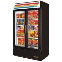 True GDM-43F-LD Black Two Glass Door Merchandiser Freezer ...