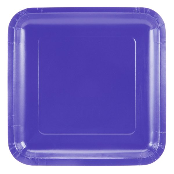 "Creative Converting 463268 9"" Purple Square Paper Plate"