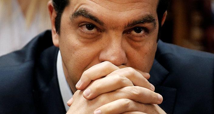 Il premier della Grecia Alexis Tsipras