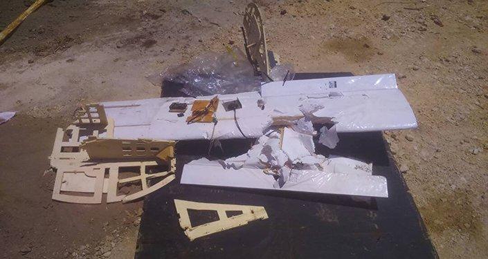 Uno dei droni abbattuti