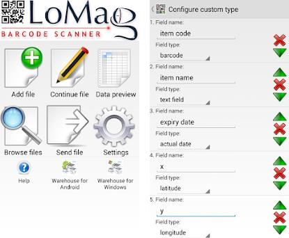 LoMag Data Scanner & Inventory  Barcodes to Excel 1 33 apk download